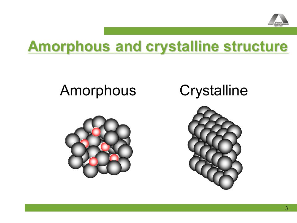 Amorphous and crystalline structure