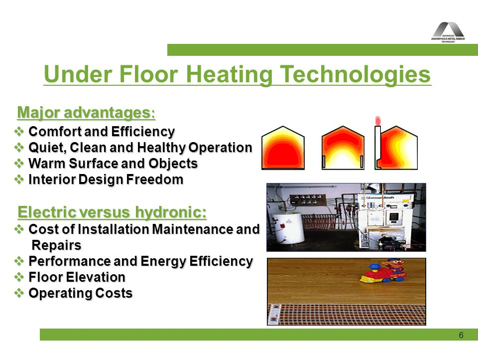 Under Floor Heating Technologies