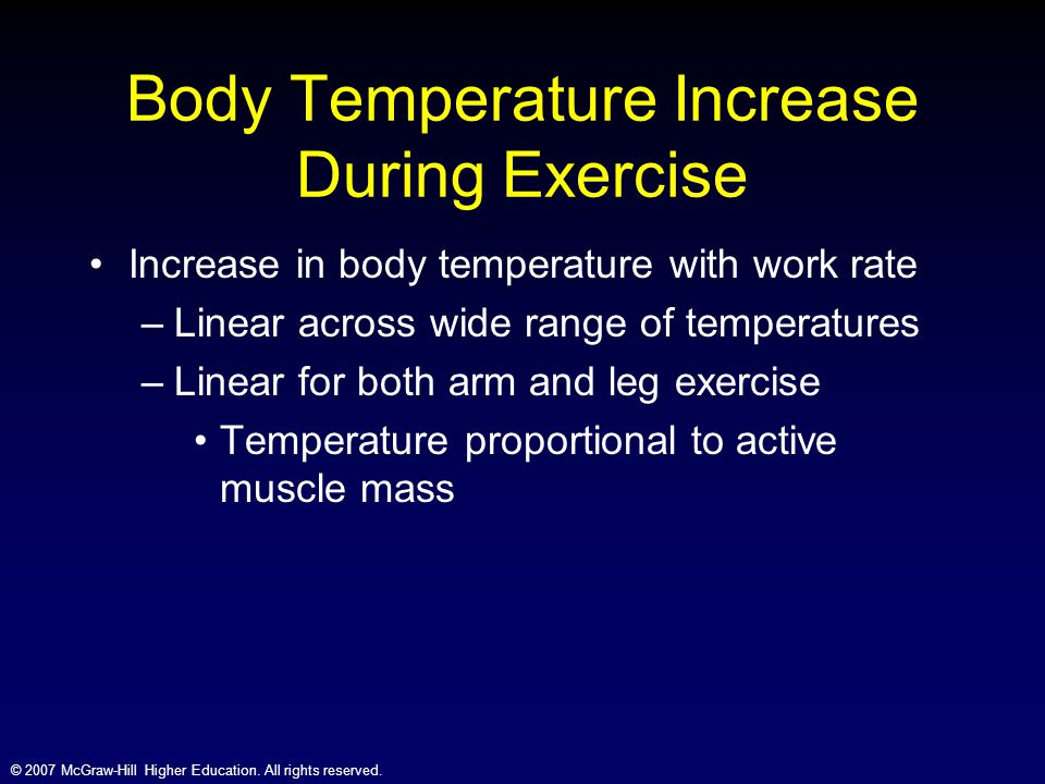 Body Temperature Increase During Exercise