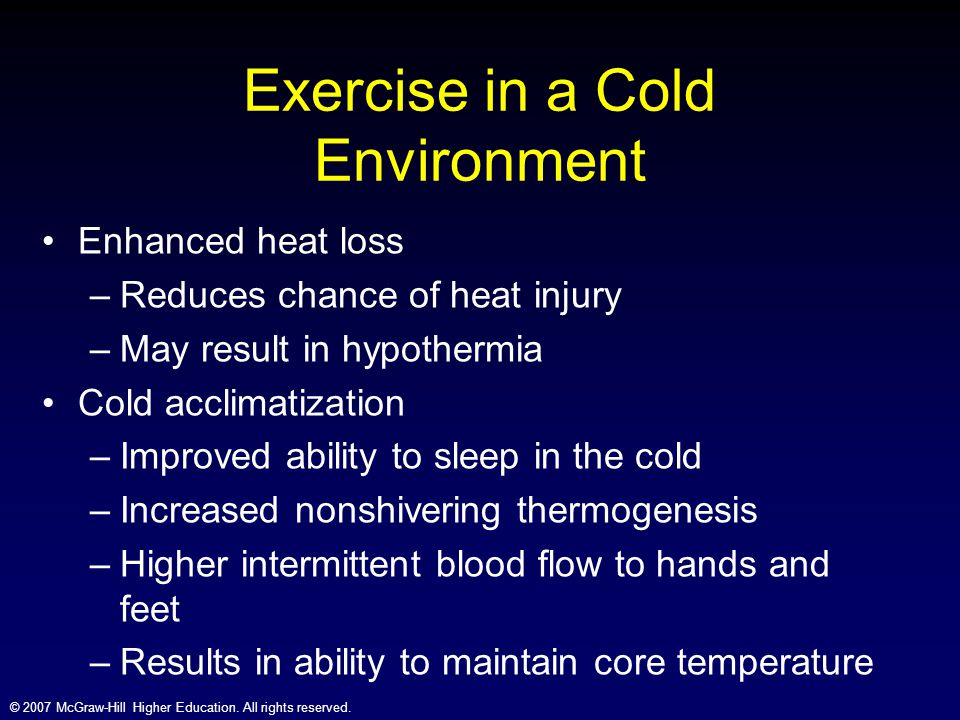 Exercise in a Cold Environment
