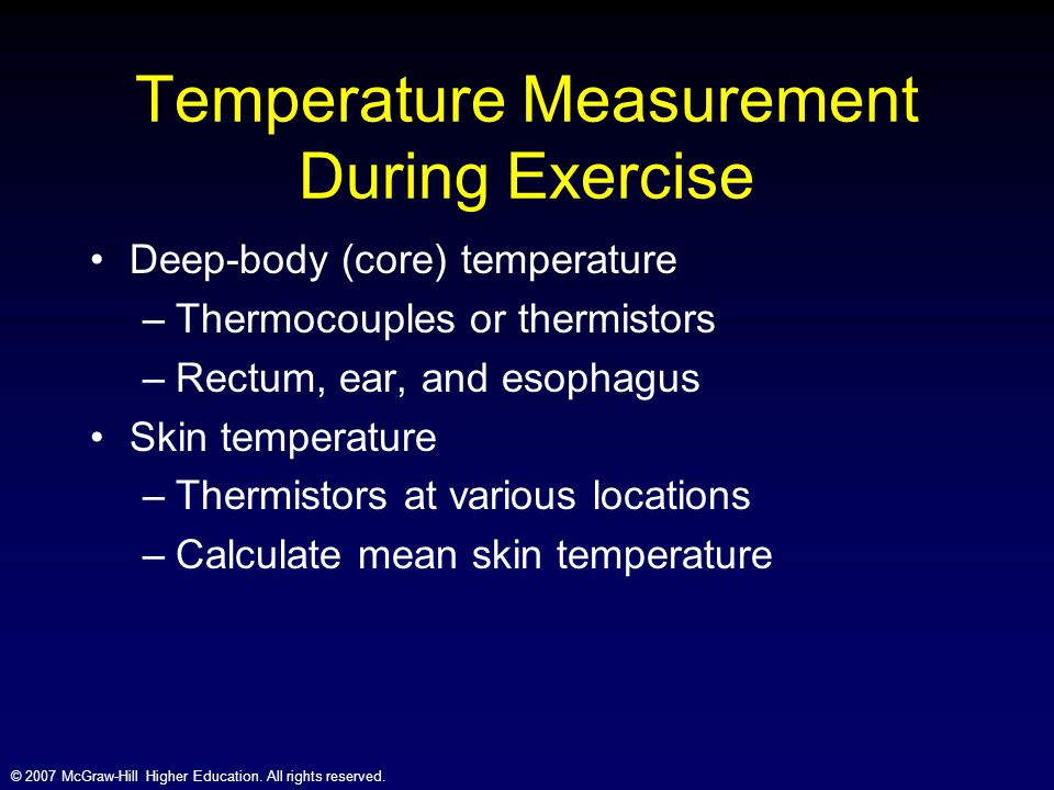 Temperature Measurement During Exercise