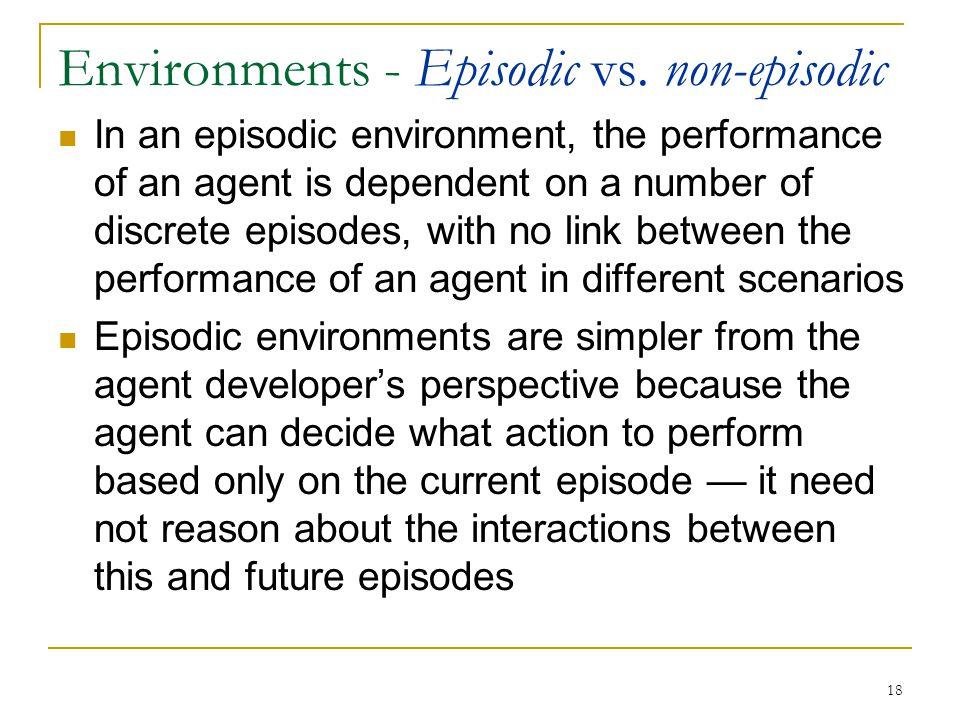 Environments - Episodic vs. non-episodic