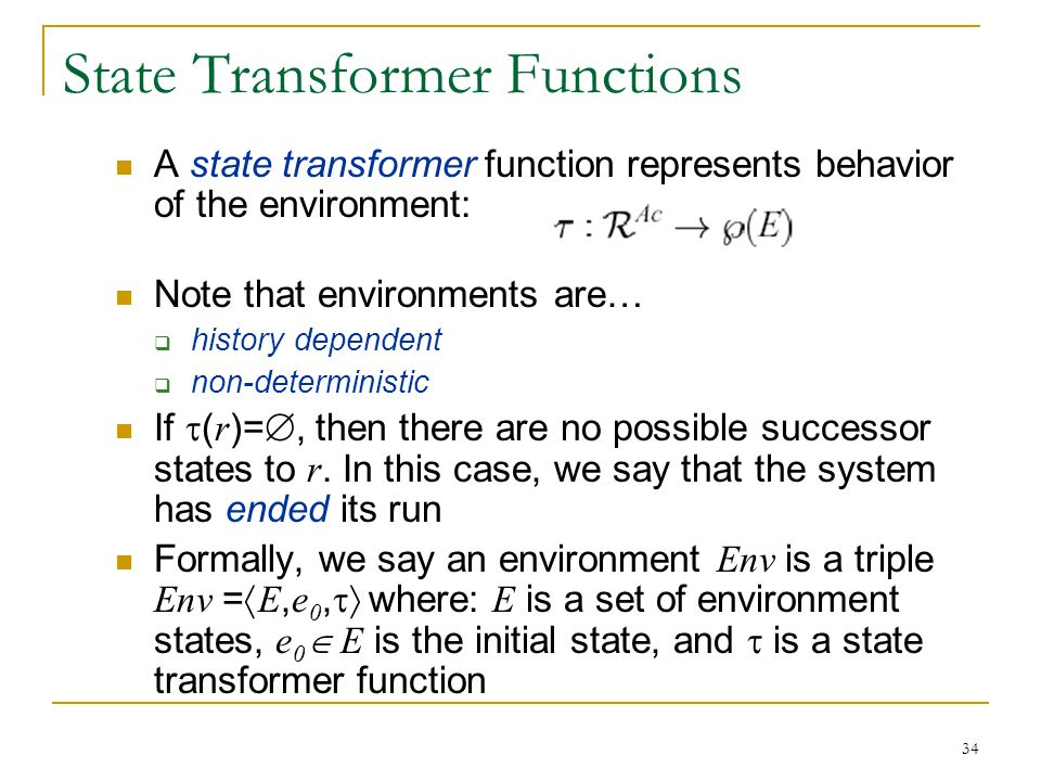 State Transformer Functions