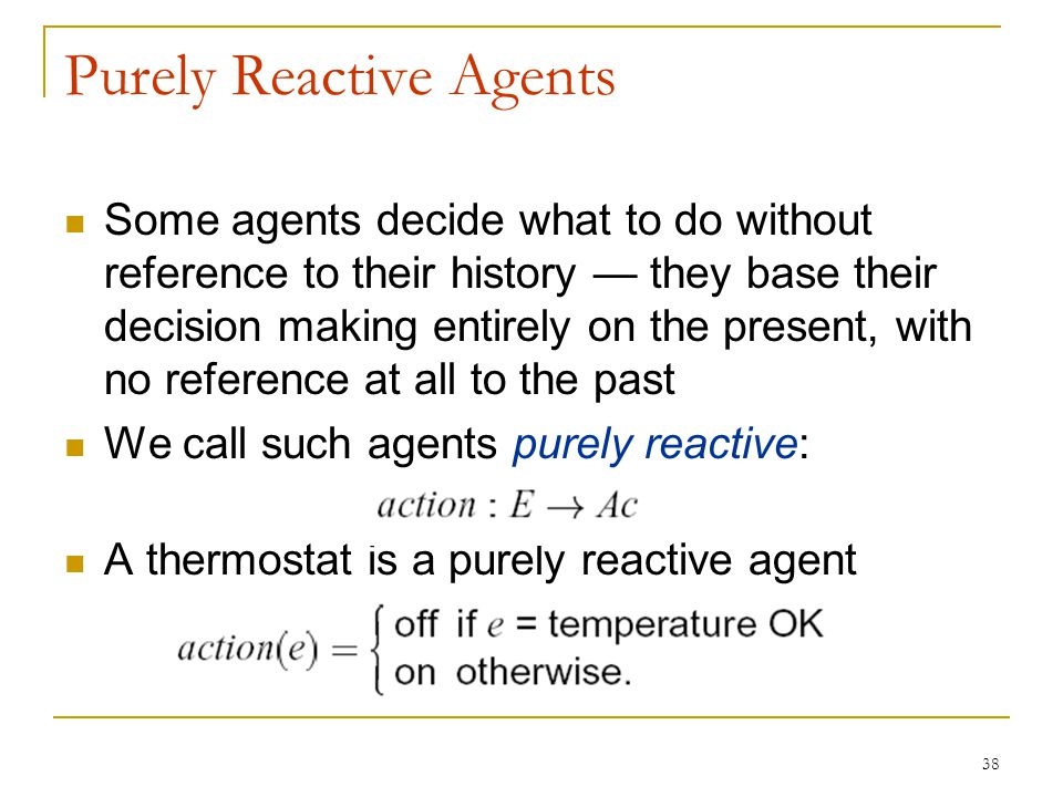 Purely Reactive Agents
