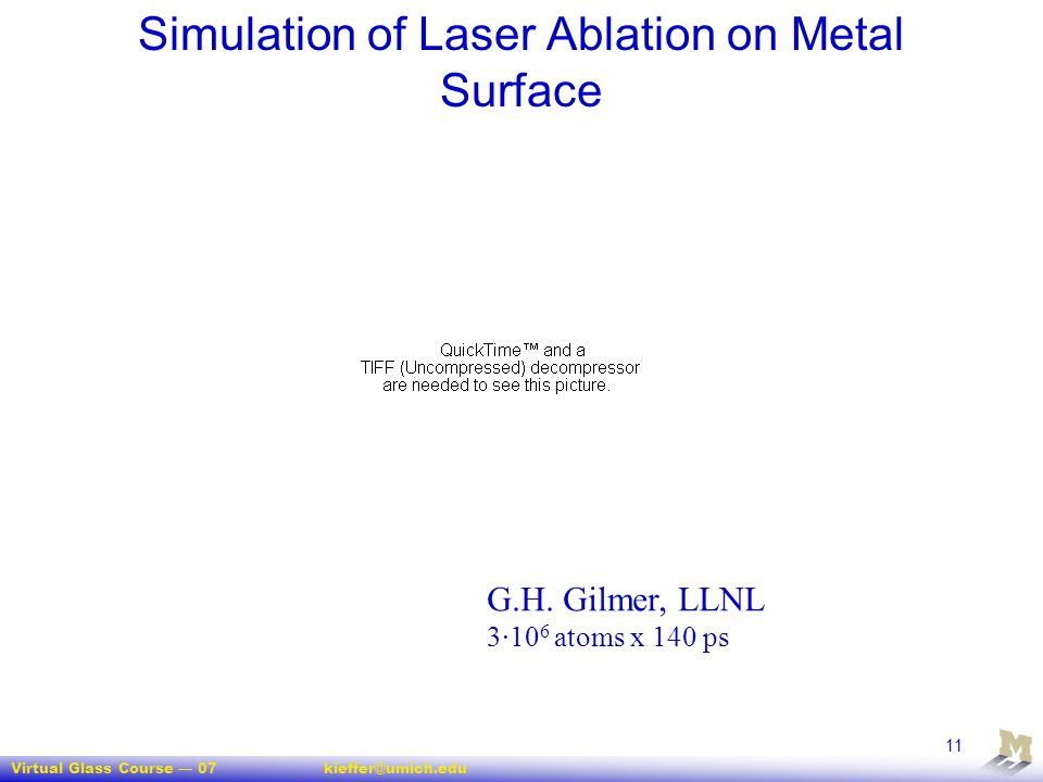 Simulation of Laser Ablation on Metal Surface