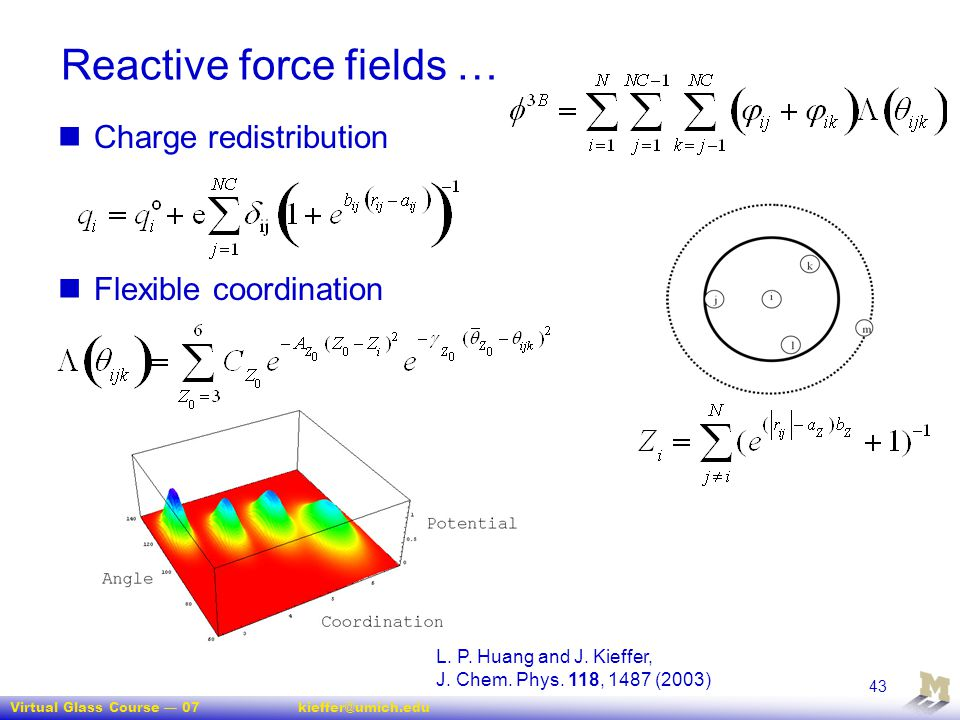Reactive force fields …
