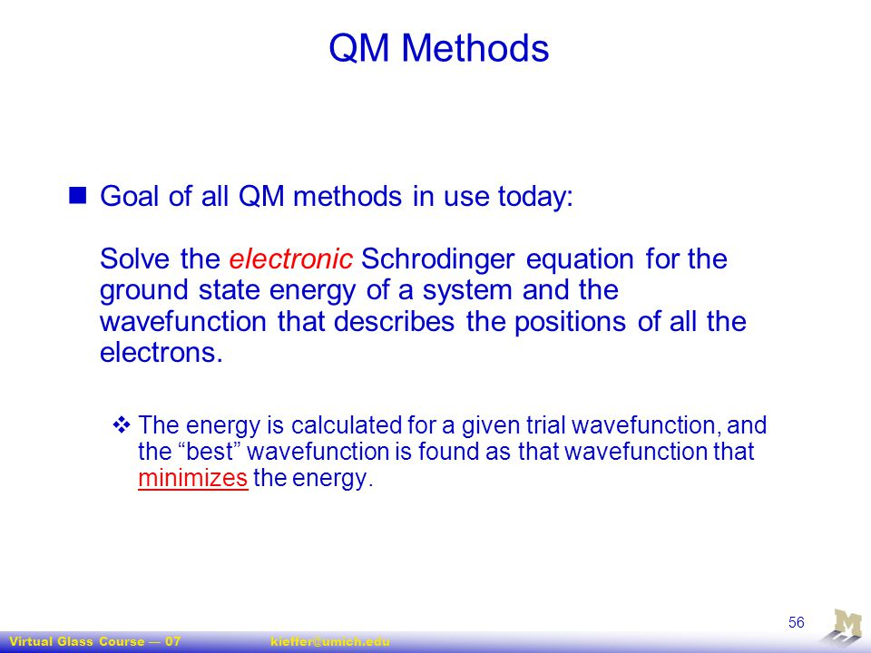 QM Methods