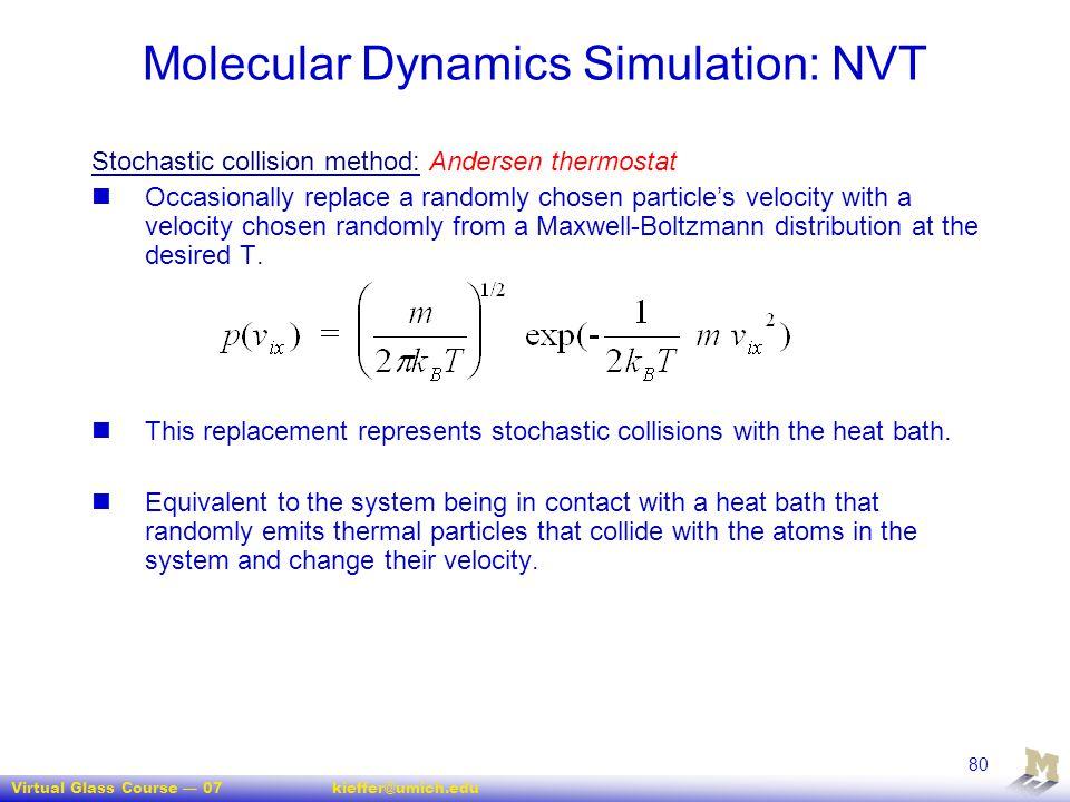 Molecular Dynamics Simulation: NVT