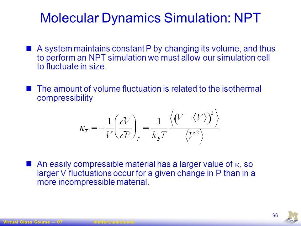 Molecular Dynamics Simulation: NPT
