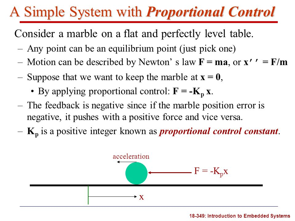 A Simple System with Proportional Control