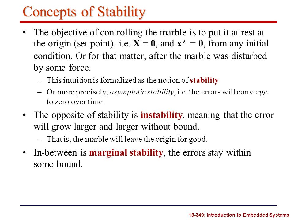 Concepts of Stability