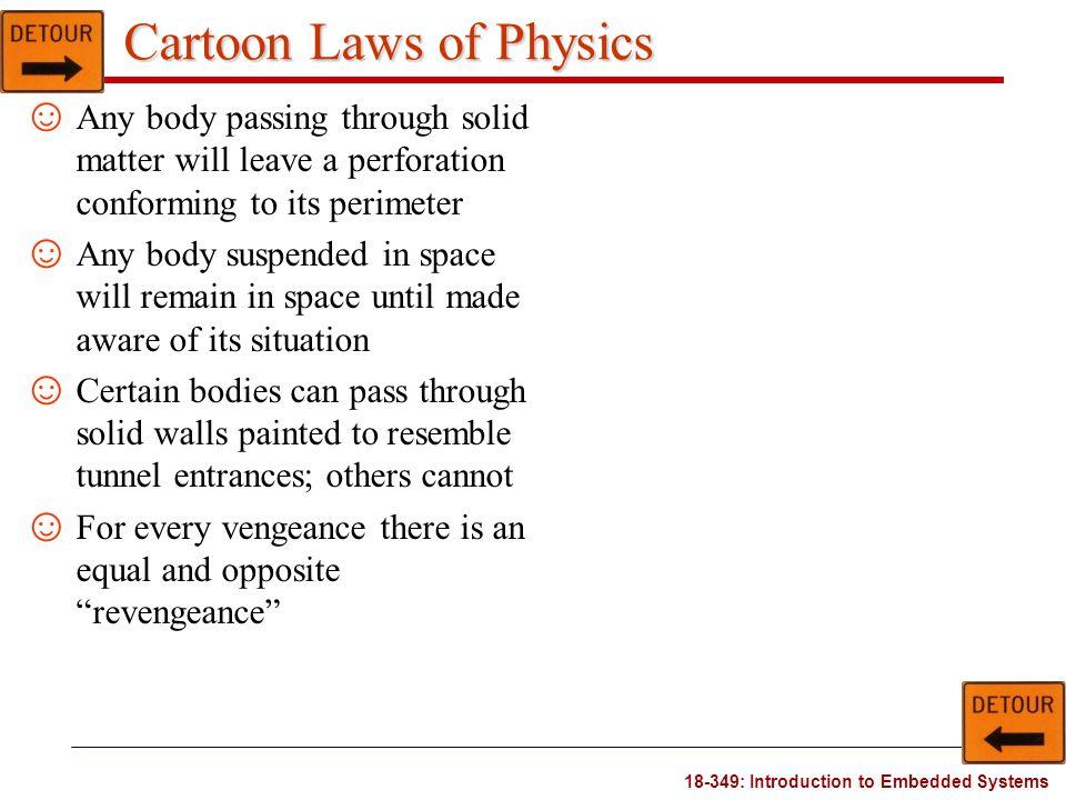 Cartoon Laws of Physics