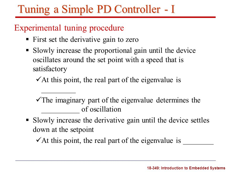 Tuning a Simple PD Controller - I