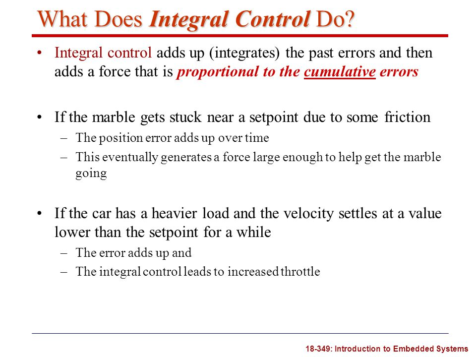 What Does Integral Control Do