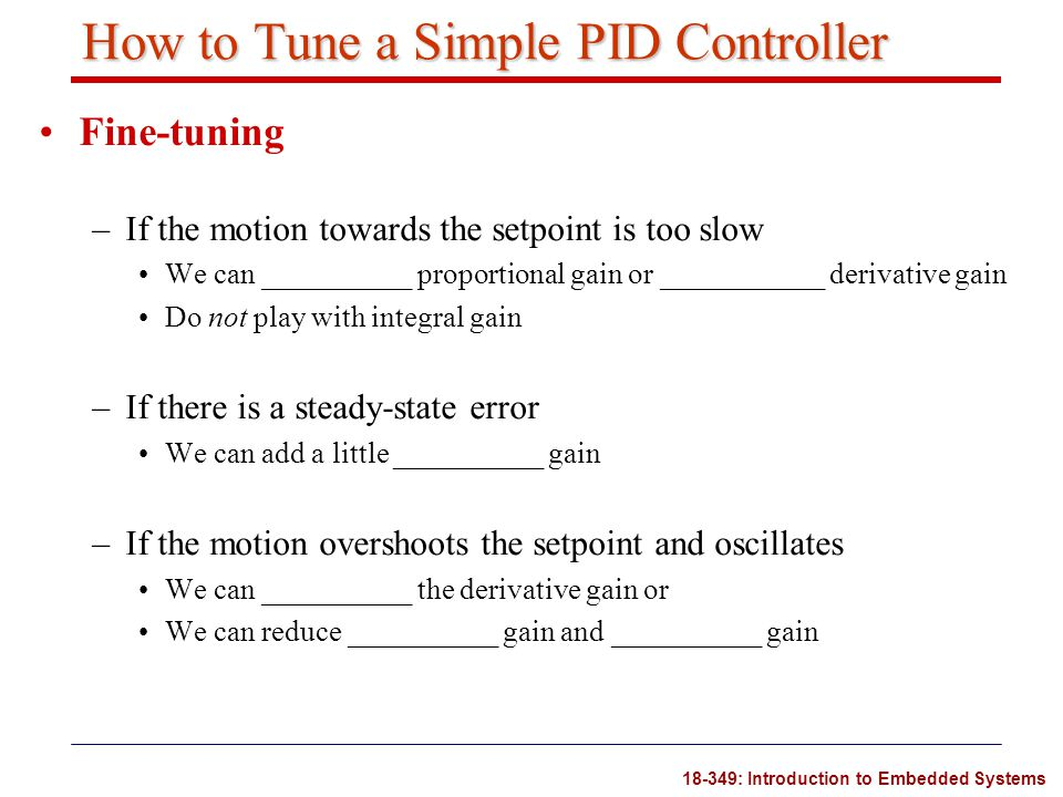How to Tune a Simple PID Controller