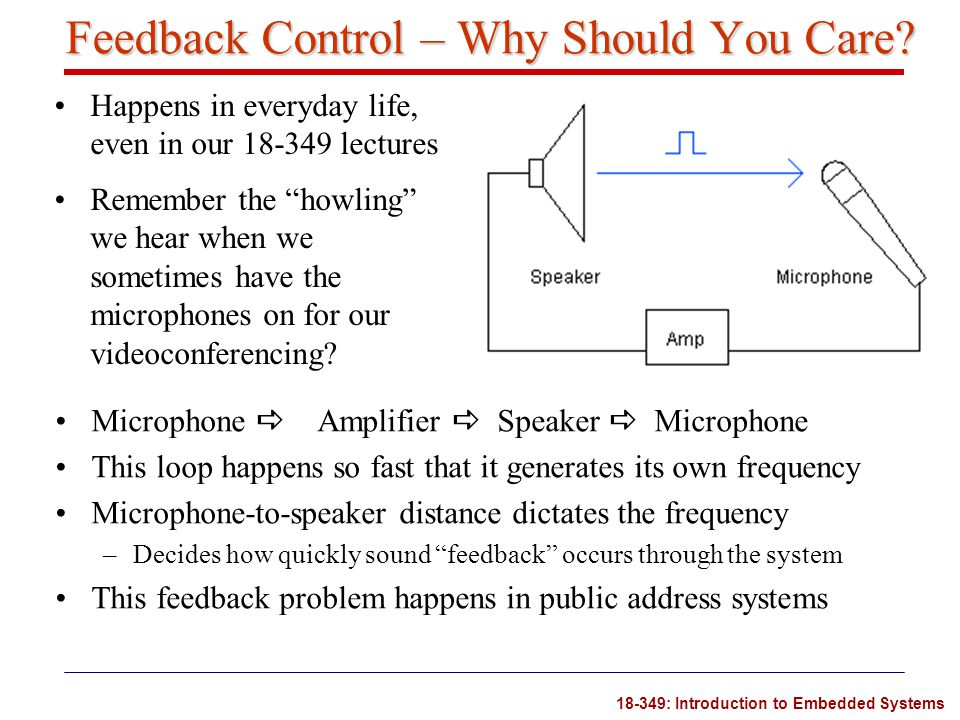 Feedback Control – Why Should You Care
