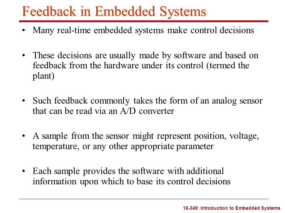 Feedback in Embedded Systems