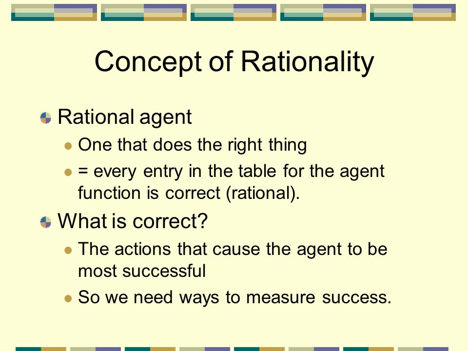 Concept of Rationality
