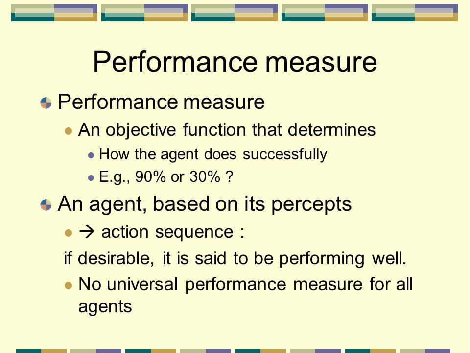 Performance measure Performance measure