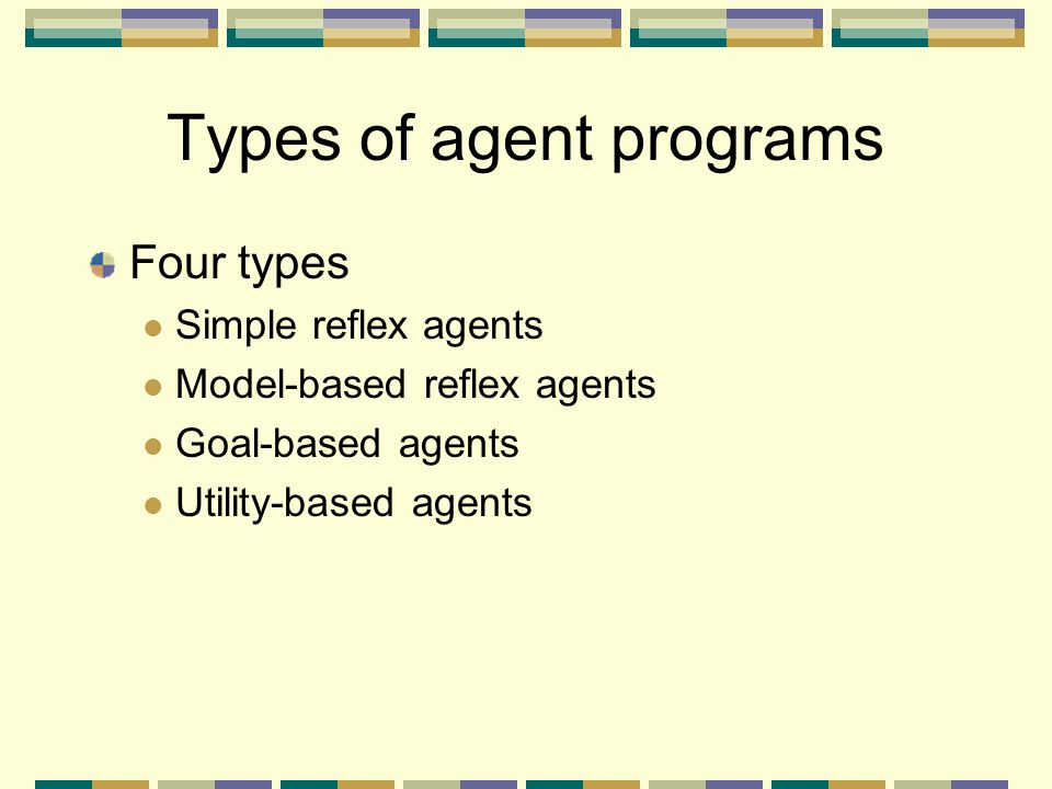 Types of agent programs
