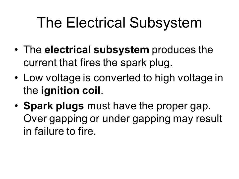The Electrical Subsystem
