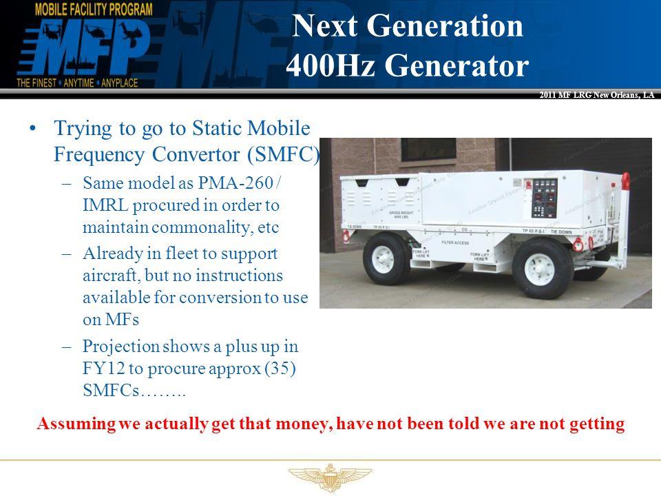 Next Generation 400Hz Generator