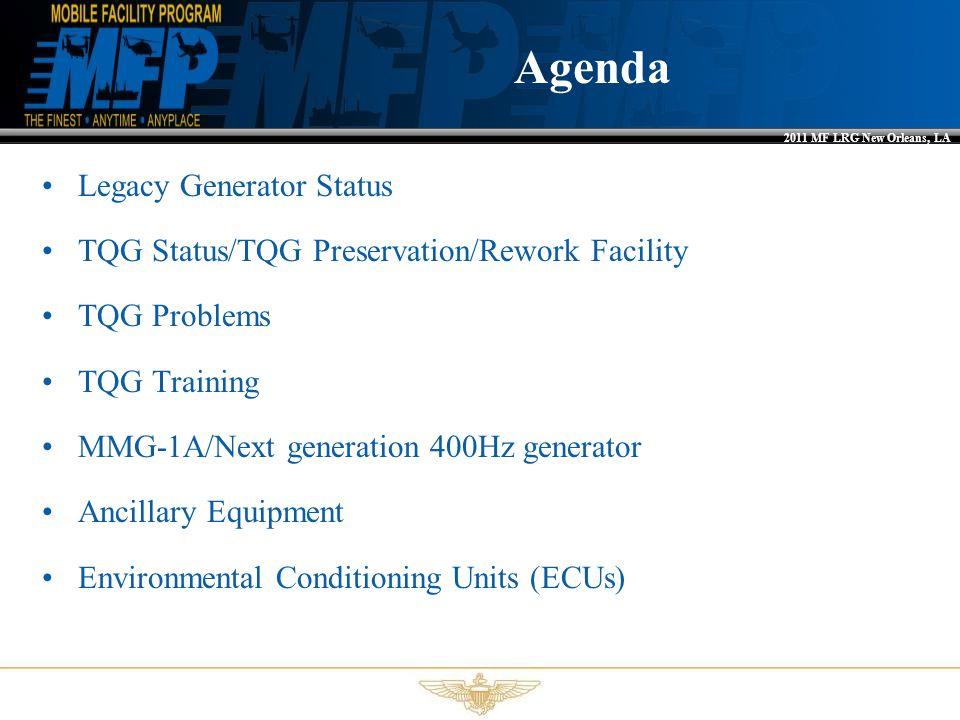 Agenda Legacy Generator Status