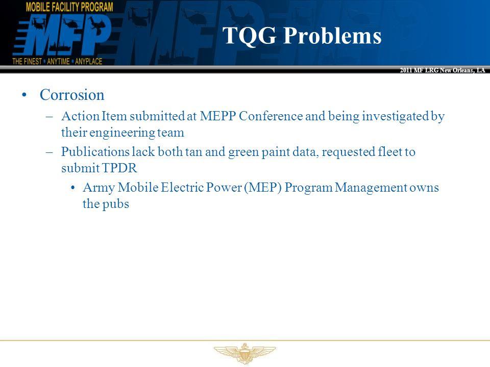 TQG Problems Corrosion