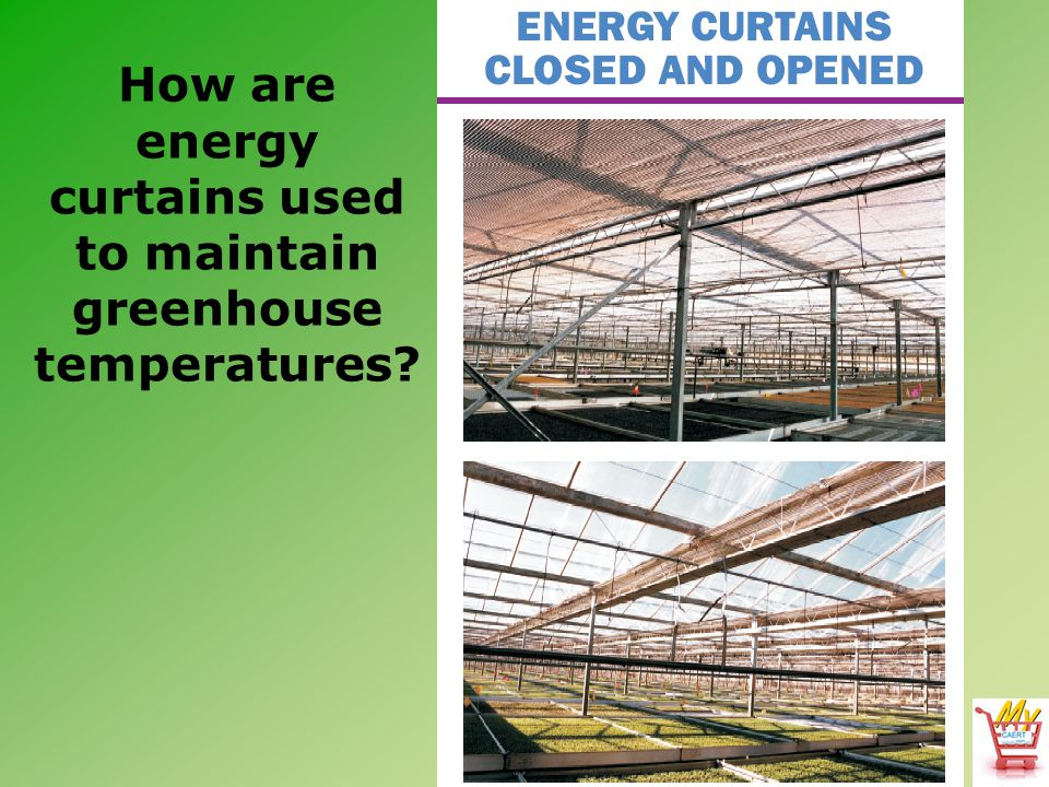 How are energy curtains used to maintain greenhouse temperatures
