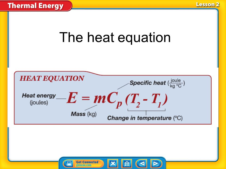 The heat equation