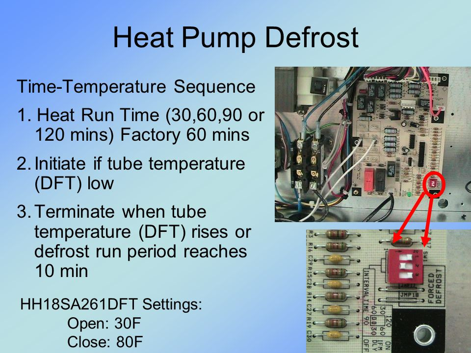 Heat Pump Defrost Time-Temperature Sequence