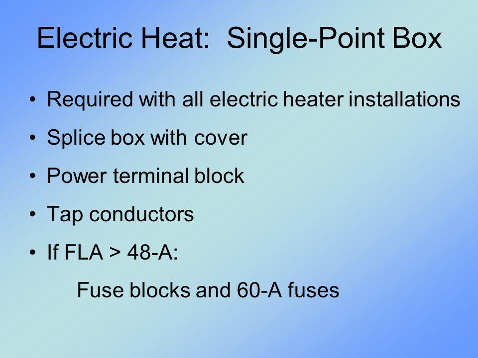 Electric Heat: Single-Point Box