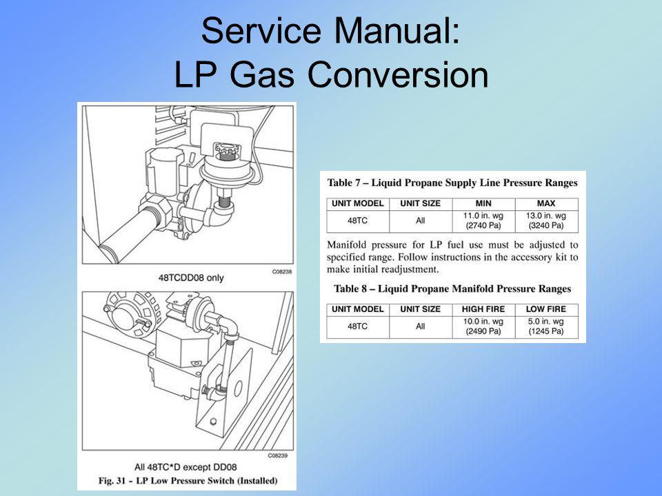 Service Manual: LP Gas Conversion