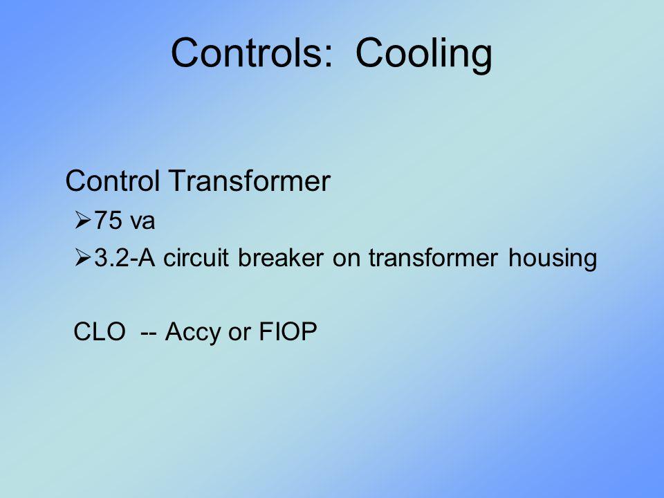 Controls: Cooling Control Transformer 75 va
