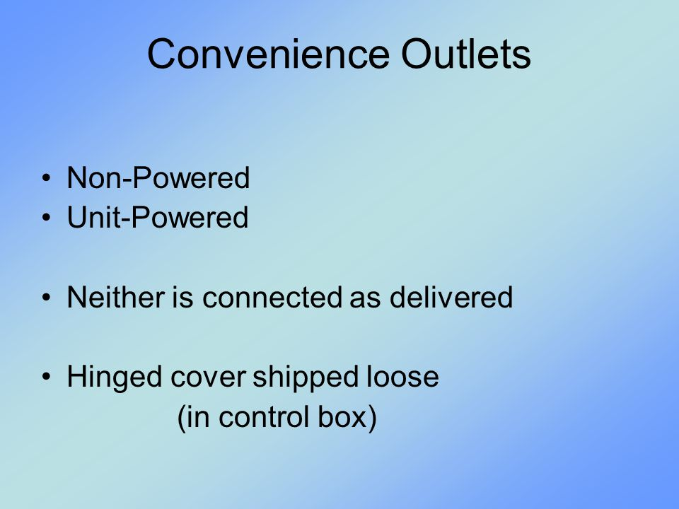 Convenience Outlets Non-Powered Unit-Powered