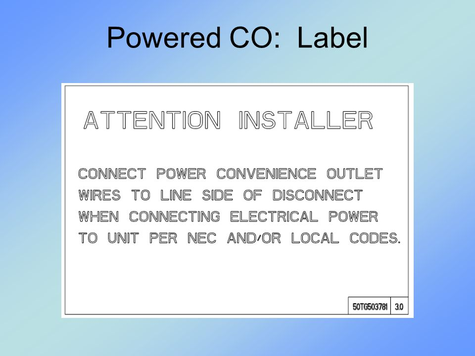 Powered CO: Label