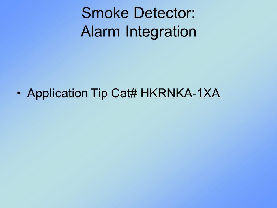 Smoke Detector: Alarm Integration