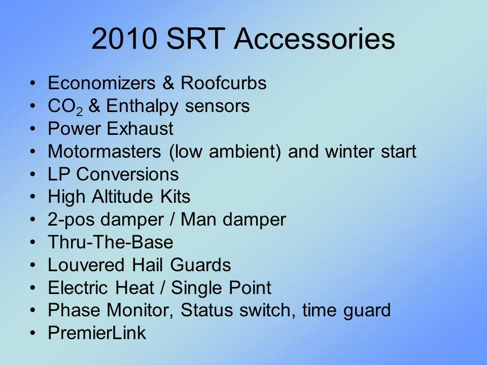 2010 SRT Accessories Economizers & Roofcurbs CO2 & Enthalpy sensors