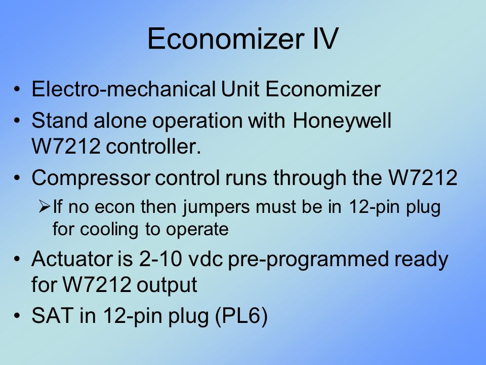 Economizer+IV+Electro mechanical+Unit+Economizer command center terminal board rtu mp controller (opt) ppt video  at creativeand.co