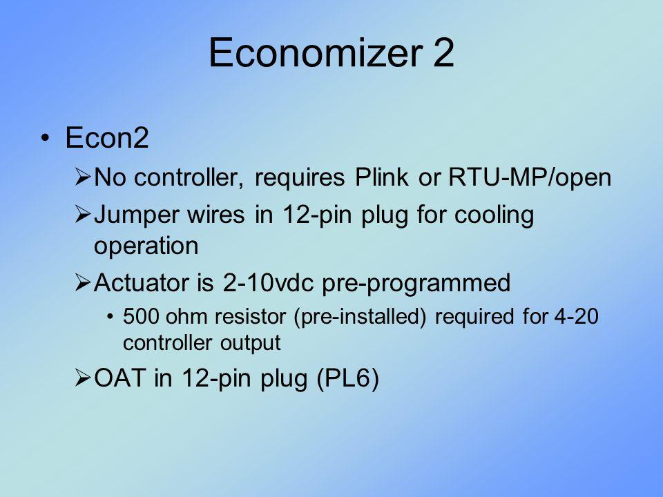 Economizer 2 Econ2 No controller, requires Plink or RTU-MP/open