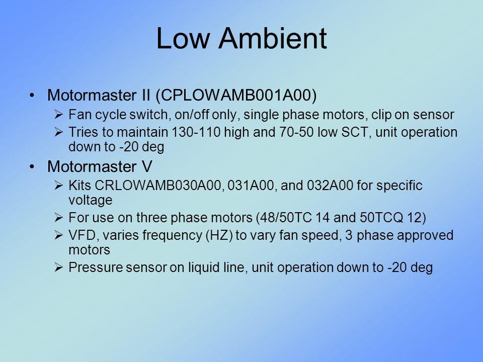 Low Ambient Motormaster II (CPLOWAMB001A00) Motormaster V