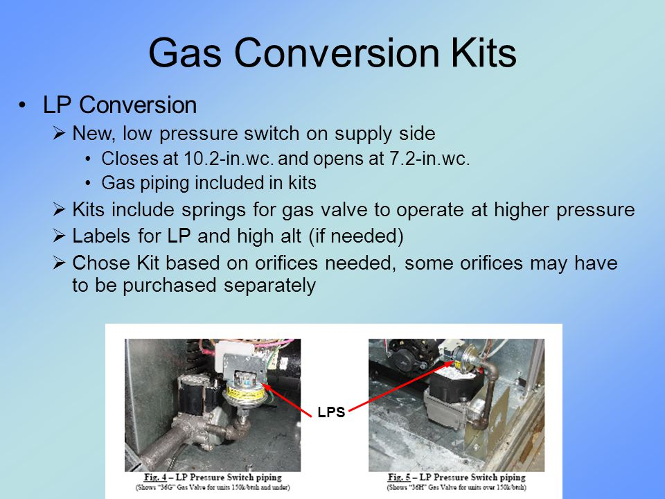 Gas Conversion Kits LP Conversion