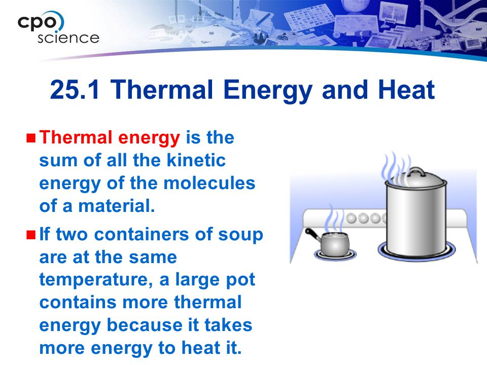 25.1 Thermal Energy and Heat