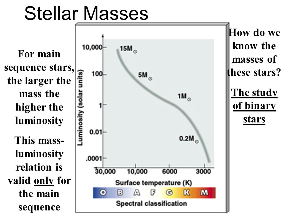 Stellar Masses How do we know the masses of these stars
