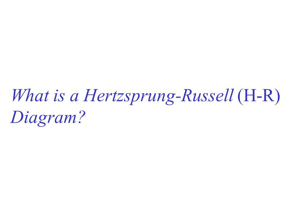 What is a Hertzsprung-Russell (H-R) Diagram