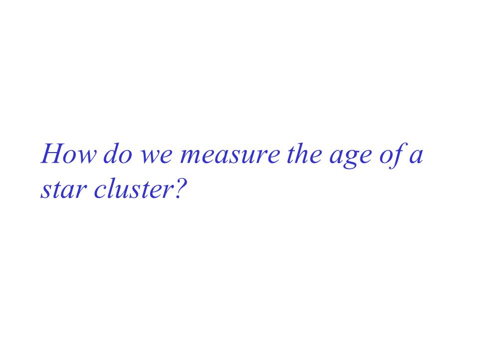 How do we measure the age of a star cluster