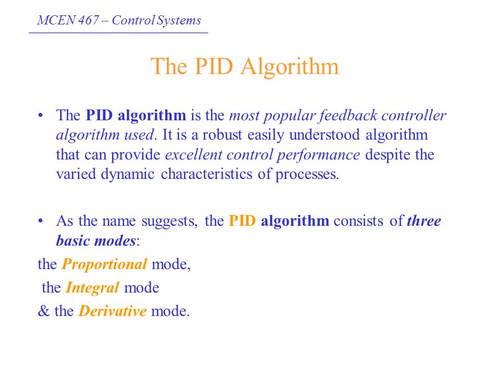 The PID Algorithm