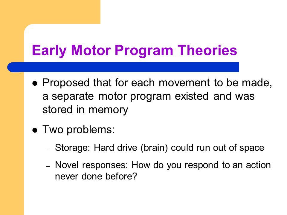 Early Motor Program Theories