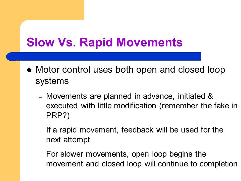 Slow Vs. Rapid Movements