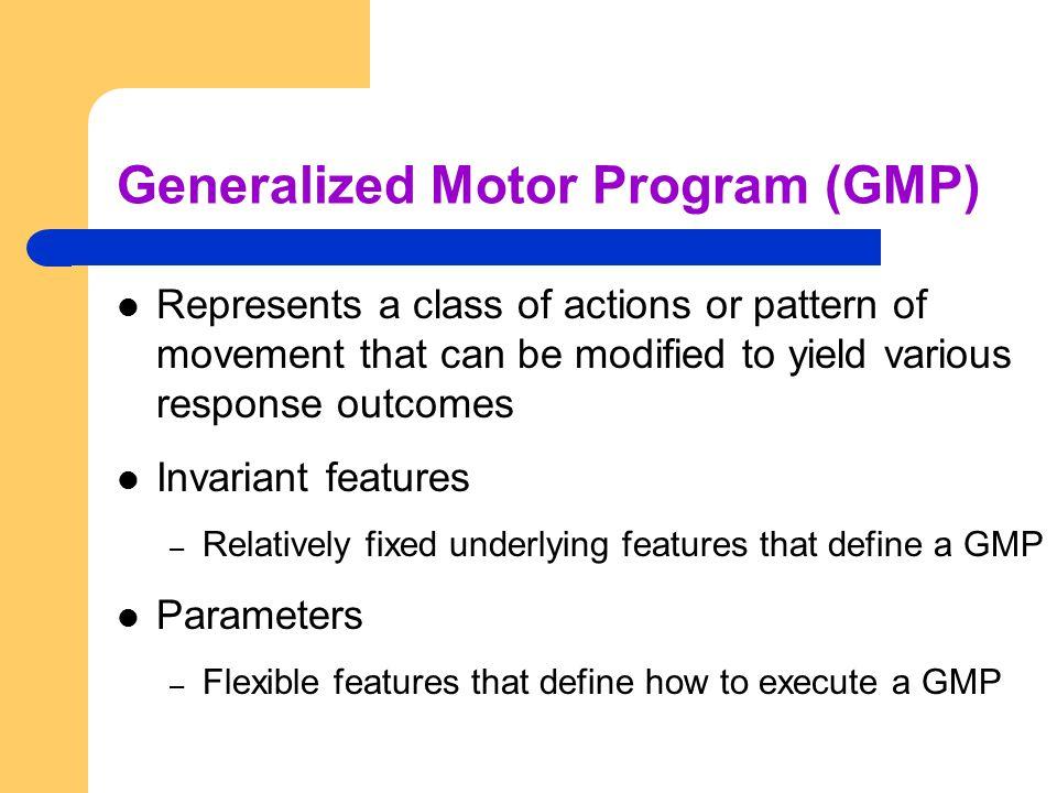 Generalized Motor Program (GMP)